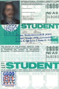 ISIC Card 1981
