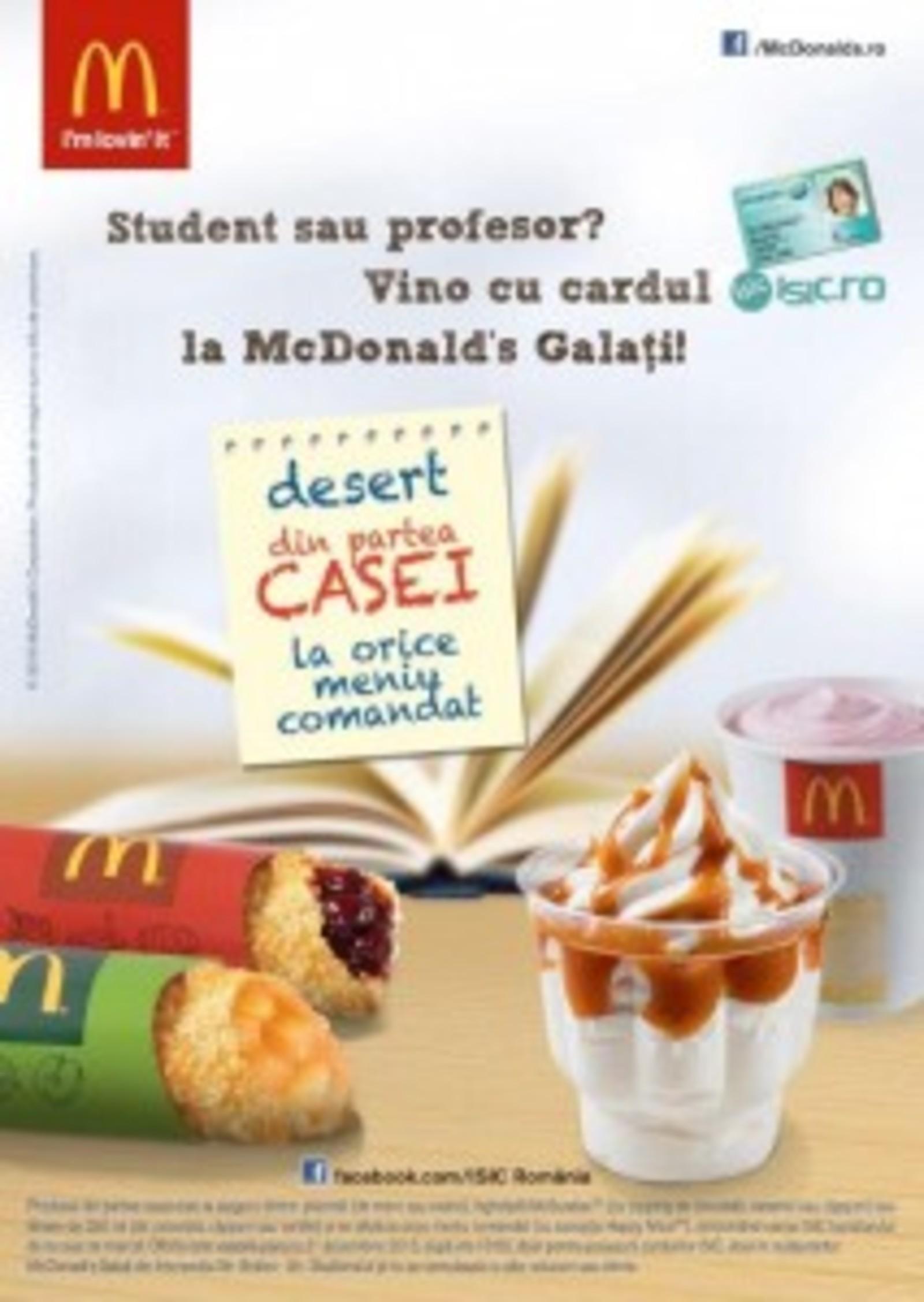 MCD-0116-Desert pentru ISIC studenti Galati - flyer - A6