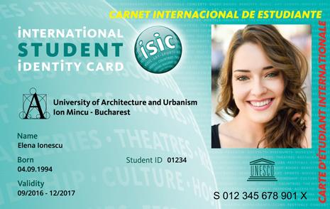 Legitimația ISIC-Arhitectură